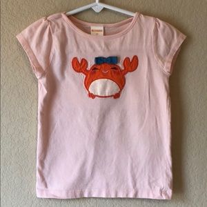 Gymboree size 2T crab shirt